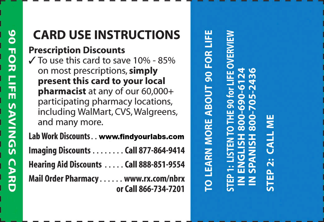 New Benefits Pharmacy Discount Card